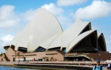 SYDNEY - FEBRUARY 16: A final design was selected for the Sydney Opera House in 1957. Ground was broken for building in 1958. Pictured on February 16, 2008 in Sydney, Australia New South Wales. © jessicakirsh