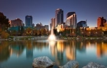 Calgary Downtown from Princess Island © Nelu Goia