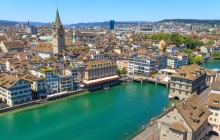 Zurich Cityscape (aerial view from elevated position) © Bertl123