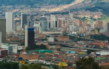 The city center of Medellin, the second biggest city in Colombia, which is the capital of the Department of Antioquia ©  Ildi Papp