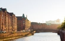 Hamburg warehouse district, Speicherstadt, at a late sunny afternoon © Inga Nielsen