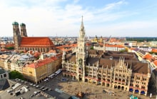 The aerial view of Munich city center from the tower of the Peterskirche © gary718