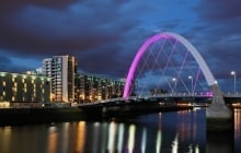 Clyde arc bridge at night © Grant Glendinning