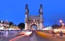HYDERABAD,INDIA -AUGUST 29: Charminar in Hyderabad on August 29,2012, Is listed among the most recognized structures in India, Built in 1591. © SNEHIT
