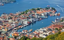 Bergen city in Norway view from hill. © chaoss