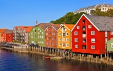 Cityscape of Trondheim, Norway - architecture background © Tatiana Popova