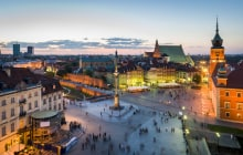 Night panorama of Old Town in Warsaw, Poland © Jacek_Kadaj