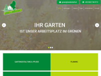 Grün & Landschaft Gartengestaltung website screenshot