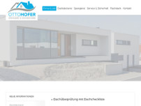 HOFER OTTO Lettner-Fiedler Spengler & Dachdecker GmbH website screenshot