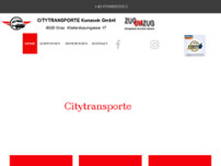 Citytransporte Kunasek GmbH website screenshot