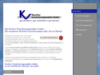 Kocher Versicherungsmakler GmbH website screenshot