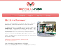 GIVING & LIVING - Geschenkboutique website screenshot
