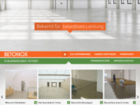 Betonox Industrieboden GmbH website screenshot