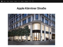 Apple Kärntner Straße website screenshot