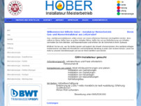 HOBER Wilhelm - Installateur Meisterbetrieb website screenshot
