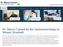Dr. Marco Carniel website screenshot