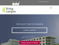 Living Campus - HOTEL - BÜRO CENTER - STUDENTENHAUS website screenshot