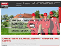 Ahrens Schornsteintechnik GesmbH website screenshot