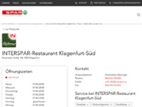 INTERSPAR-Restaurant website screenshot