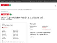 SPAR Supermarkt Hilfeeinr. d. Caritas d. Erz. website screenshot