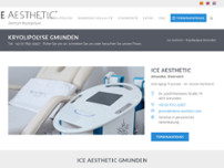 ICE AESTHETIC - Zentrum Kryolipolyse Gmunden - Dr. Harfmann website screenshot