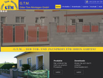 G.T.M. Gitter Tore Montagen GmbH website screenshot