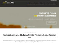 RadVentura Radreisen website screenshot