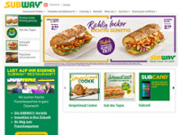 Subway website screenshot