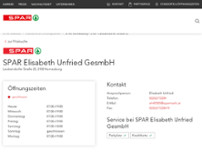 SPAR Elisabeth Unfried GesmbH website screenshot