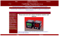 Cambridge Transducers Pty Ltd website screenshot