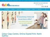Colour Copy Centre website screenshot
