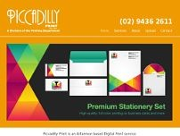 Piccadilly Print website screenshot