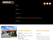 Buildpro - Bendigo website screenshot