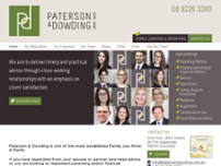 Paterson & Dowding. website screenshot