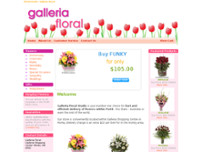 A Galleria Floral Studio website screenshot