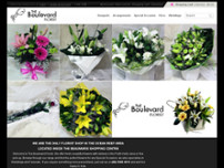 The Boulevard Florist website screenshot