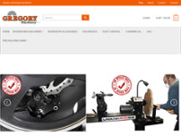 Gregory Machinery website screenshot