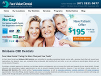 Face Value Dental website screenshot