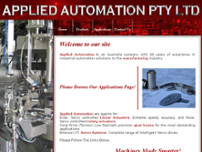 Applied Automation P/L website screenshot