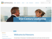 Hewsons Executive Coaching website screenshot