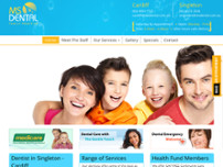 MS Dental -  Family Dentist Cardiff, Newcastle website screenshot