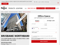 Regus - Brisbane Northbank website screenshot