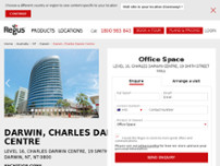 Regus - Darwin, Charles Darwin Centre website screenshot