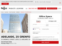 Regus - Adelaide, 25 Grenfell Street website screenshot