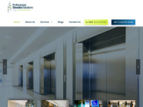 Professional Elevator Solutions Pty Ltd website screenshot