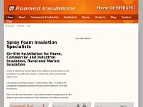 Foamed Insulations Pty Ltd website screenshot