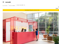 WeWork website screenshot