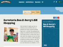 Ben & Jerry's website screenshot