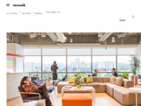 WeWork Rio Negro 1477 website screenshot
