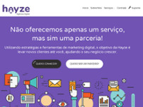 Agencia Hayze website screenshot